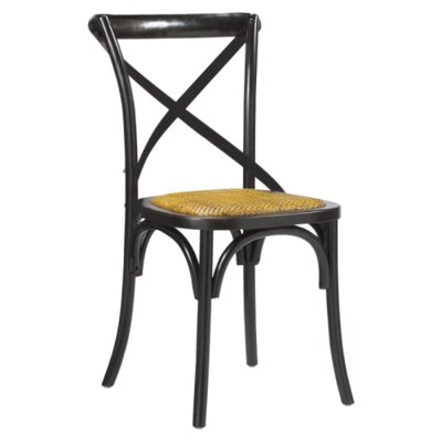 Longworth Solid Wood Dining Chair Finish: Black