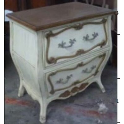 Normandy Bombe 2 Drawer Nightstand