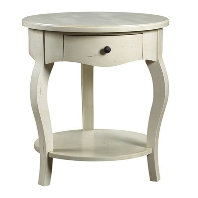 Maude Gueridon End Table with Storage