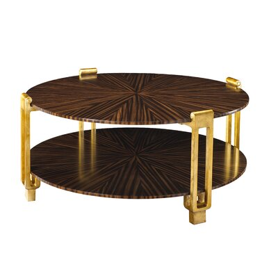 Kepler Rob Roy Coffee Table Table Top Color: Zebrawood Dark