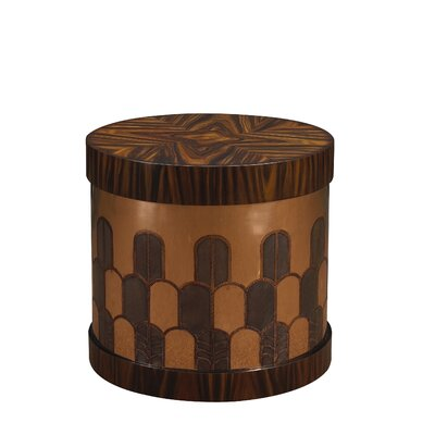 Kepler Gibson End Table Color: Rosewood/Copper