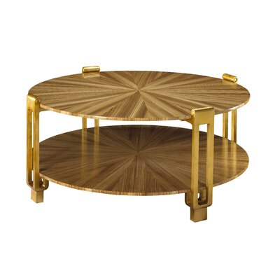 Kepler Rob Roy Coffee Table Table Top Color: Zebrawood Light