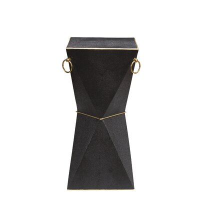 Kepler Mimosa End Table Color: Coalmine Shagreen