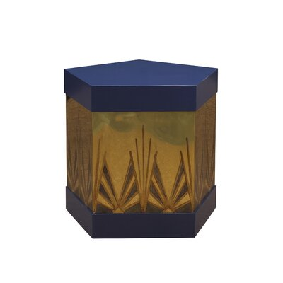 Kepler Ramos Fizz End Table Color: Midnight/Brass