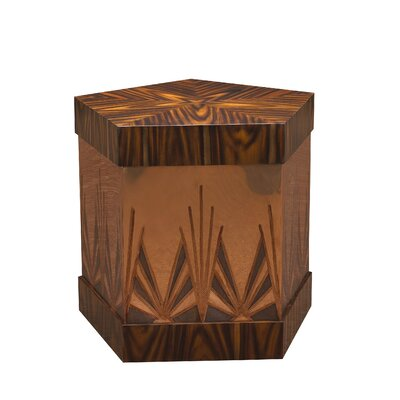 Kepler Ramos Fizz End Table Color: Rosewood/Copper