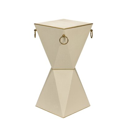 Kepler Mimosa End Table Color: Vanilla Shagreen