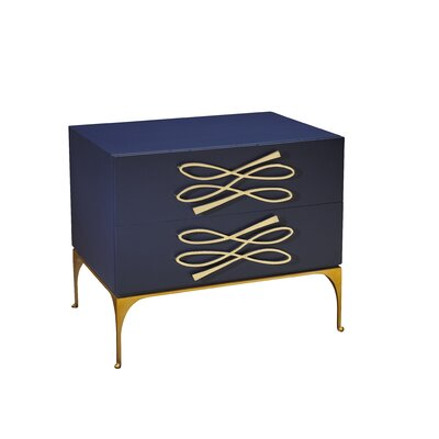 Kepler Tuxedo Nightstand Color: Midnight