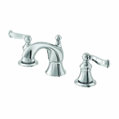 Scroll Double Handle Widespread Bathroom Faucet Finish: Brushed Nickel