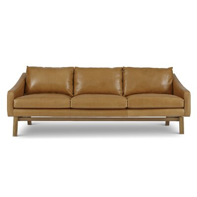 Coronet Leather Sofa Upholstery: Brown