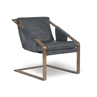 Frame Armchair Finish: Steel, Upholstery: Maxima Metal