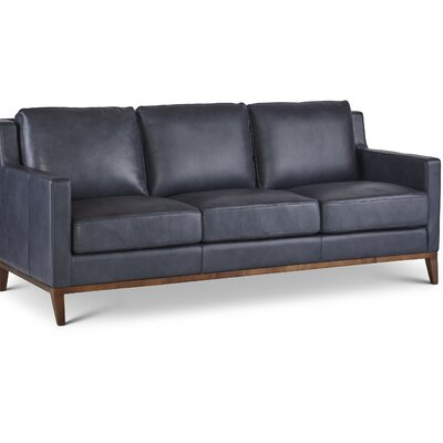 Cornish Leather Sofa Upholstery: Navy Blue