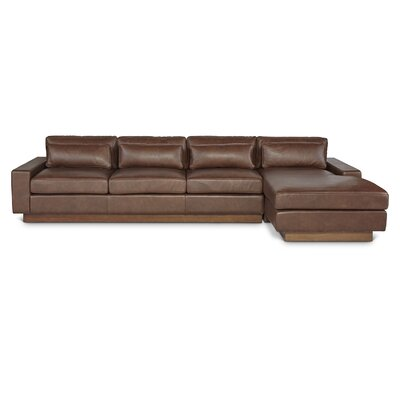 Ansel Leather Sectional Orientation: Right Facing