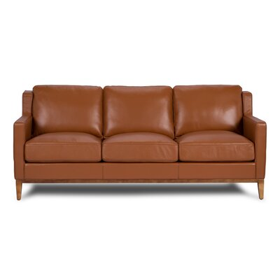 Cornish Leather Sofa Upholstery: Cognac