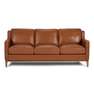 Cornish Leather Sofa Upholstery: Cognac