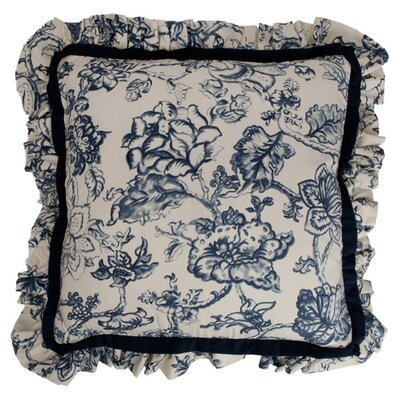 Hampton Classic Print Mini Ruffle Cotton Throw Pillow