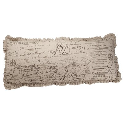 Auron Skinny French Script Cotton Lumbar Pillow