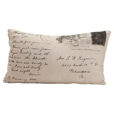 Auron Postcard Cotton Lumbar Pillow