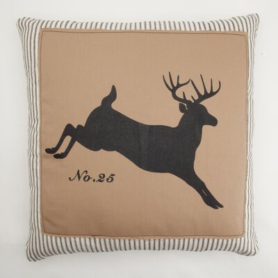 Jumping Deer Down Throw Pillow