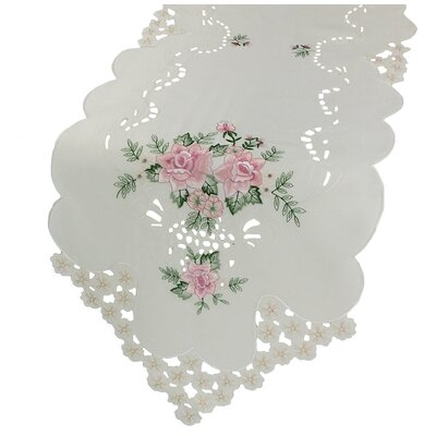 """Xia Home Fashions Bloom Table Runner - Size: 0.1"""" H x 72"""" W x 15"""" D"""