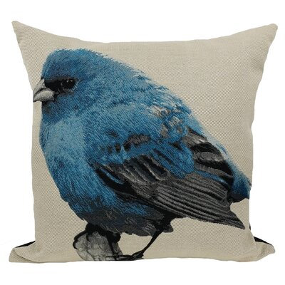 Bird Emboridery Throw Pillow