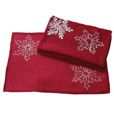 Christmas Embroidered with Snowflakes Placemat