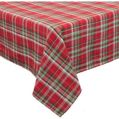 "Holiday Tartan Christmas Tablecloth Size: 0.2"" H x 120"" W x 70"" D"