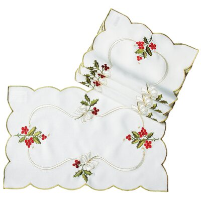Holly Berry Embroidered Placemat XD134011218
