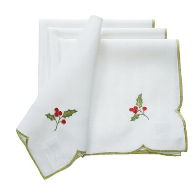 Holly Berry Embroidered Napkin THDA4954 42691108