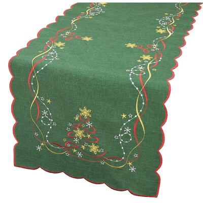 "Magical Christmas Table Runner Size: 0.1"" H x 15"" W x 72"" D"