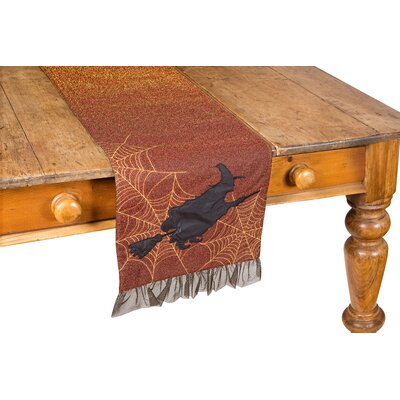 "Witching Hour Halloween Table Runner Color: Candy Corn, Size: 13"" W x 72"" L XD158051372CandyCorn"