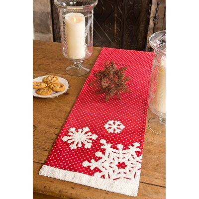 "Snowflake Christmas Table Runner Size: 0.2"" H x 13"" W x 36"" D"