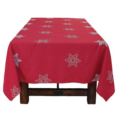 Snowy Noel Embroidered Snowflake Christmas Tablecloth THDA5004 42691177