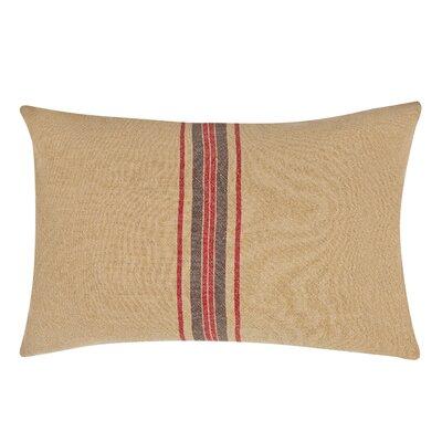 Stripe Decorative Linen Lumbar Pillow