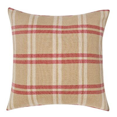 Check Decorative Linen Throw Pillow
