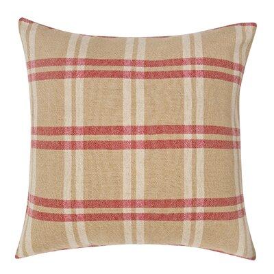 Check Decorative Linen Throw Pillow