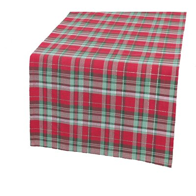 "Holiday Tartan Christmas Table Runner Size: 0.2"" H x 54"" W x 15"" D"