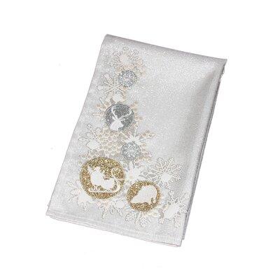 Embroidered Christmas Dishcloth