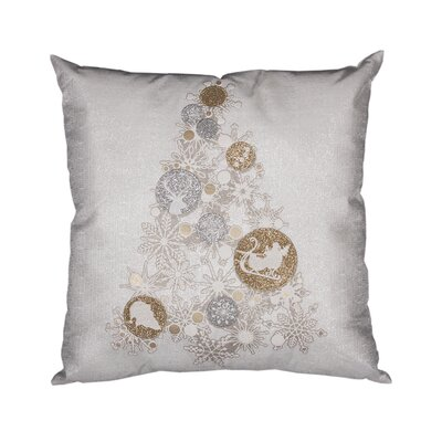 Octavian Ornament Tree Christmas Throw Pillow