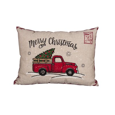 Ketan Truck Christmas Lumber Pillow