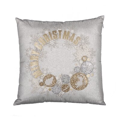 Felicity Ornament Wreath Christmas Throw Pillow