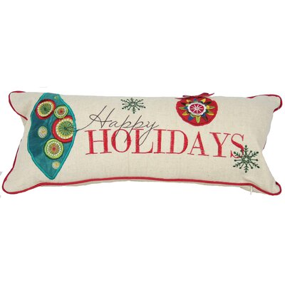 Holiday Happy Holidays Bolster Pillow