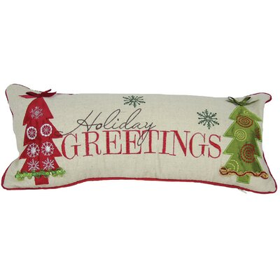 Holiday Greetings Bolster Pillow