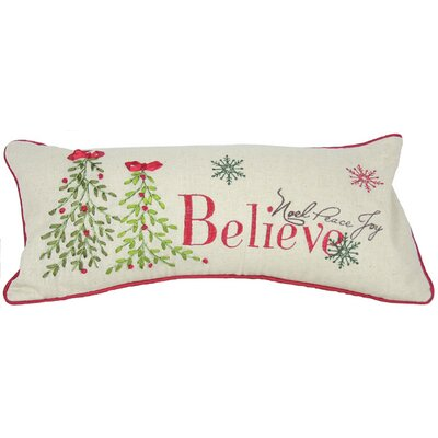 Holiday Believe with Christmas Tree Bolster Pillow