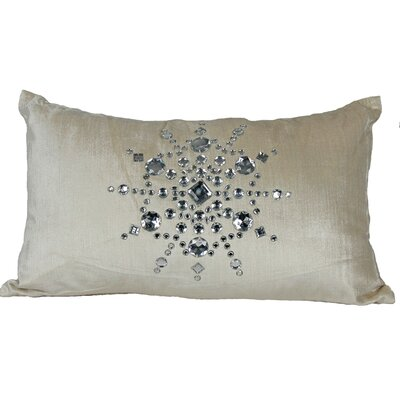 Bejeweled Snowflake Lumbar Pillow