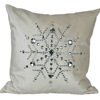 Bejeweled Snowflake Throw Pillow