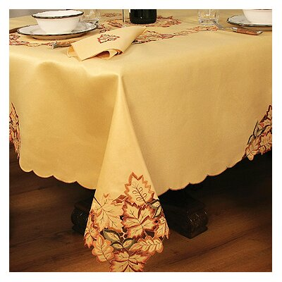 Wendling Embroidered Cutwork Tablecloth Size: 108