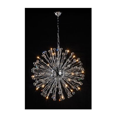 Allium 1-Light Sputnik Chandelier
