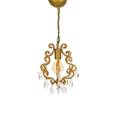 Hanging Garden 1 -Light Crystal Pendant