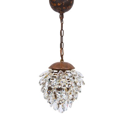 Blossom 1-Light Crystal Pendant