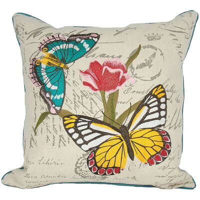 Papillion on Tulip Throw Pillow Fill: Polyester